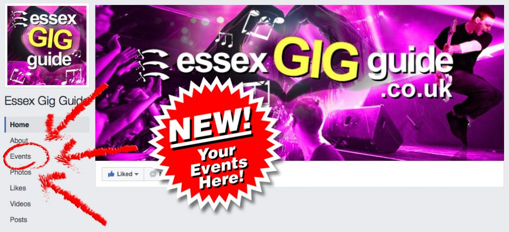 Essex Gig Guide Facebook Events